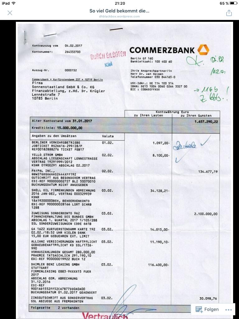 Über 2 Millionen Euro Steuergelder...so viel Geld bekommt die Firma Sonnenstaatland (SSL) IM QUARTAL für Ihr grenzdebiles Trollgeschwafel, Zensur und Löschungen in Blogs, bei Furzbook und Youtaub gegen Aufgewachte und der aktiven Unterstützung der Antifa (siehe Kontoauszug